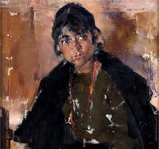 Фешин Н. И. Портрет девочки из племени Таос