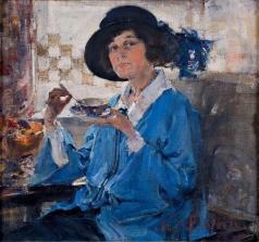 Фешин Н. И. Чай в Санта-Монике (Портрет миссис Краг)