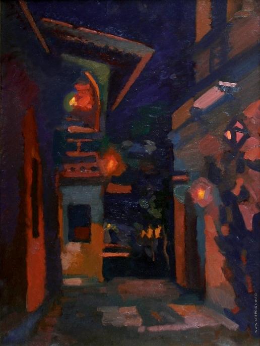 Иванов В. И. Ночная улочка на Кипре