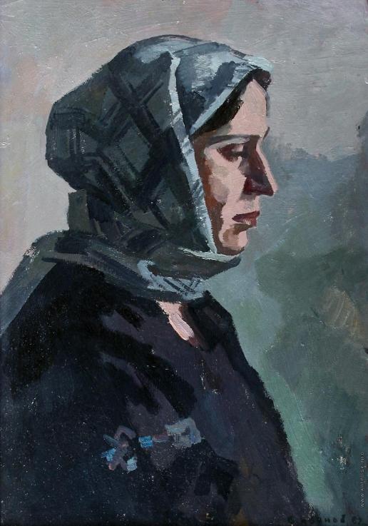 Иванов В. И. «Мать». Этюд к картине «Семья. 1945 год»