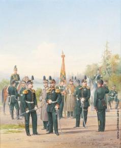 Балашов П. И. Офицеры и нижние чины Первой гренадерской дивизии