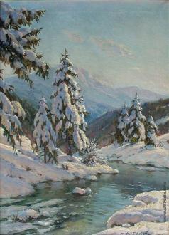 Вещилов К. А. Зимний пейзаж с елями