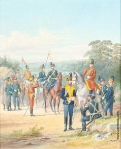 Балашов П. И. Офицеры и нижние чины 12-й Кавалерийской дивизии