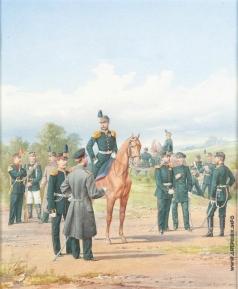 Балашов П. И. Офицеры и нижние чины Второй гренадерской дивизии
