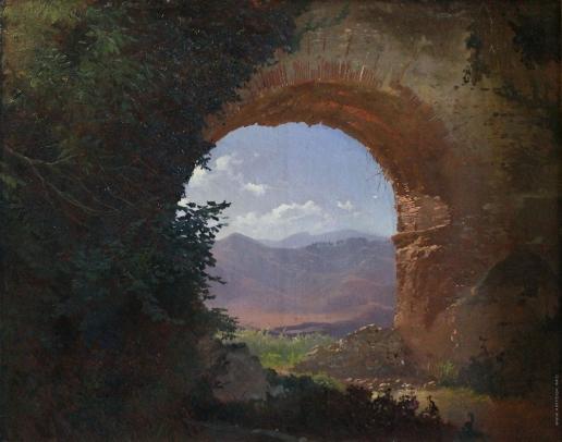 Штернберг В. И. Развалины в окрестностях Рима