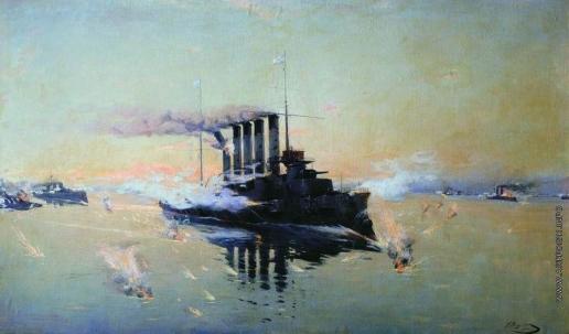 """Вещилов К. А. Крейсер """"Аскольд"""" в бою 28 июля 1904 года в Желтом море"""
