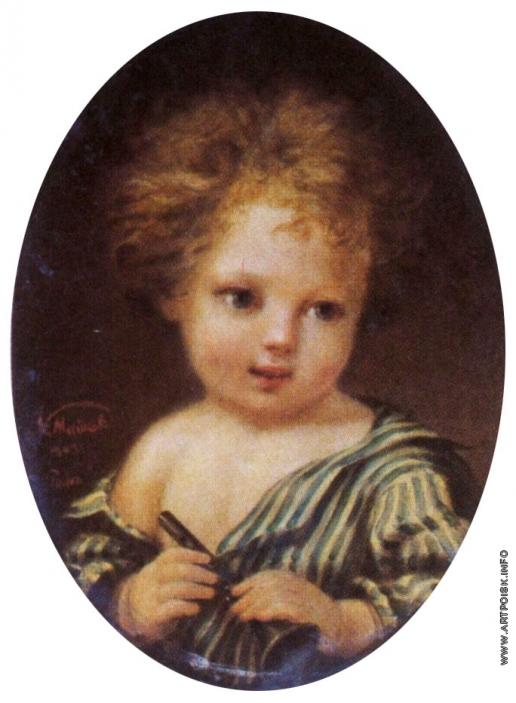 Майков Н. А. Портрет Л. Н. Майкова, сына художника, в детстве