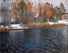 Жуковский С. Ю. Первый снег. Старый пруд