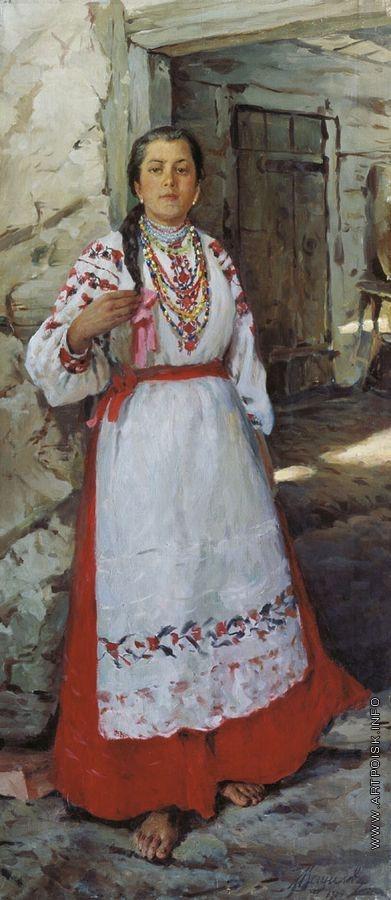 Вещилов К. А. Крестьянская девушка