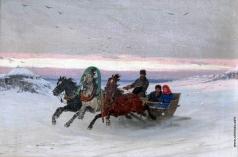 Грузинский П. Н. Катание на тройке зимой