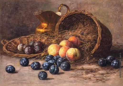 Гирв А. А. Натюрморт с персиками и сливами