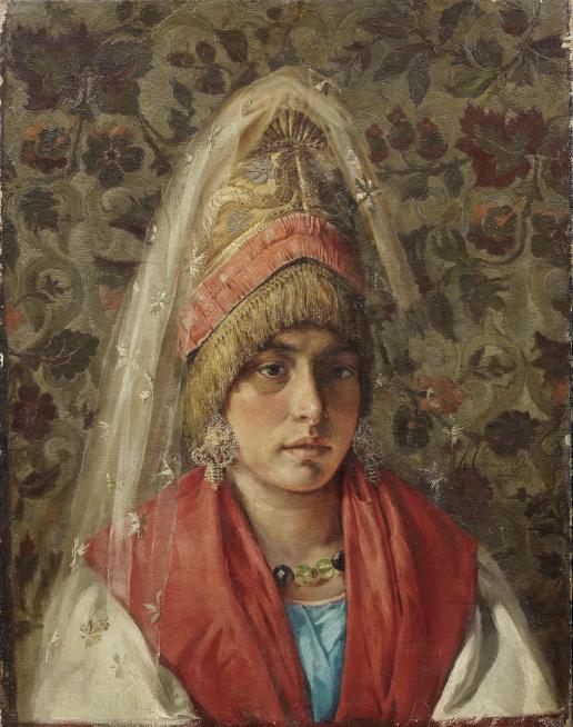 Степанов К. П. Портрет девушки в народном костюме