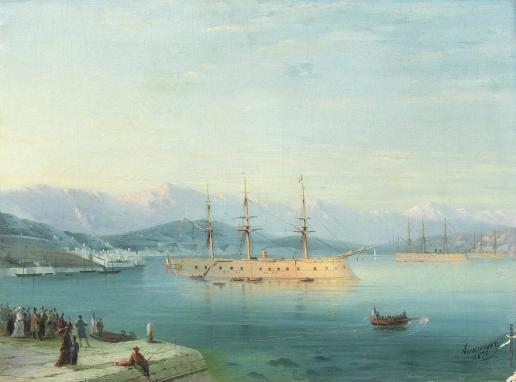 Айвазовский И. К. Французские корабли, отправляющиеся на Черное море