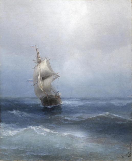 Айвазовский И. К. Русское двухмачтовое судно в открытом море