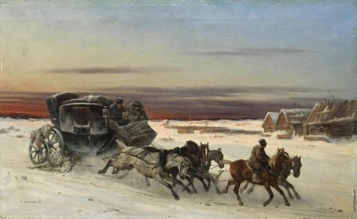Сверчков Н. Е. Уезжающая карета