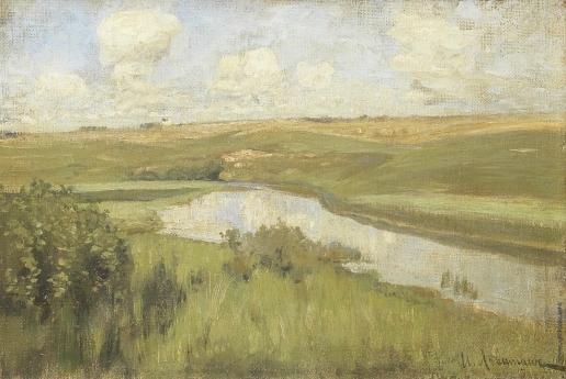 Левитан И. И. Речной пейзаж