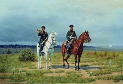 Бунин Н. Н. Трубач и офицер гвардейской конной артиллерии периода 1882–1906 годов