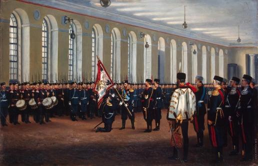 Бунин Н. Н. Вручение императором Николаем II знамени 145-му пехотному Новочеркасскому полку