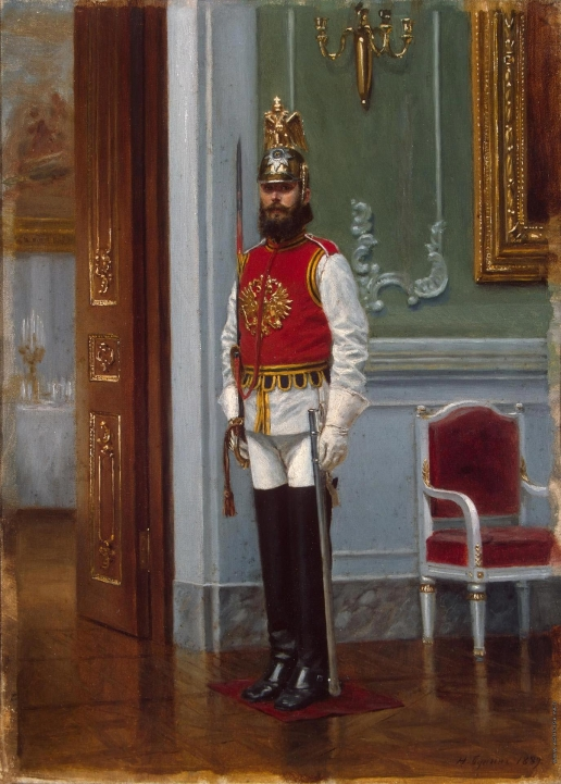 Бунин Н. Н. Часовой лейб-гвардии Конного полка в Зимнем дворце