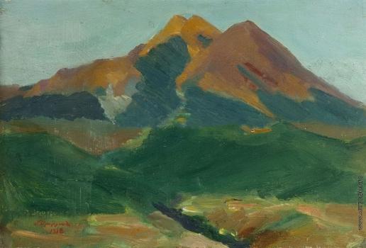Сарьян М. С. Гора Абул. Около Ахалкалаки