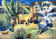 Сарьян М. С. Ереванский дворик весной