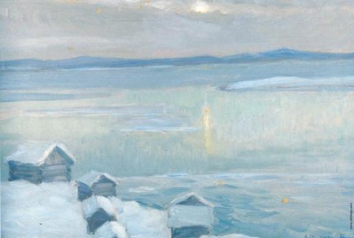 Бялыницкий-Бируля В. К. Зимний пейзаж