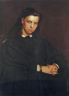 Репин И. Е. Портрет девушки