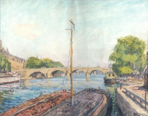 Яковлев М. Н. Вид Парижа вечером