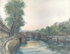 Яковлев М. Н. Парижский пейзаж