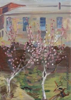 Сарьян М. С. Персики цветут