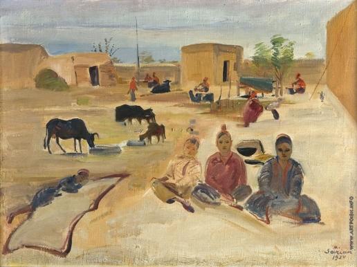 Сарьян М. С. Дворик колхозников в Ашхабаде