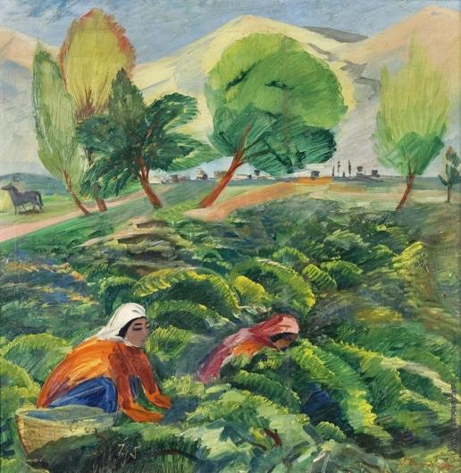 Сарьян М. С. Сбор винограда в Араратской долине