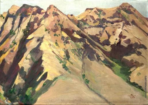 Сарьян М. С. Отроги горы Еранос