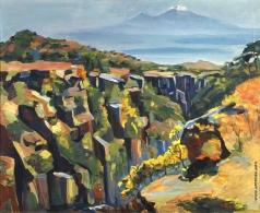 Сарьян М. С. Ущелье на склонах Арагаца