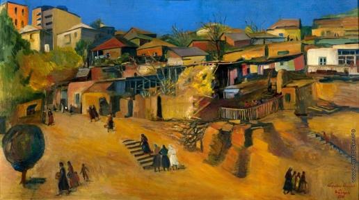 Сарьян М. С. Домики. Уголок в Ереване