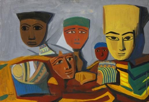 Сарьян М. С. Египетские маски