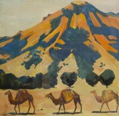 Сарьян М. С. Горы и проходящие верблюды