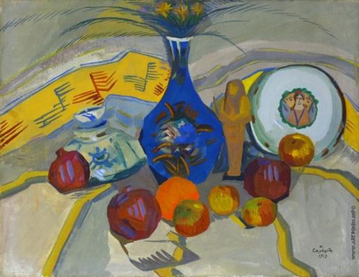 Сарьян М. С. Натюрморт с синим кувшином. Светлая гамма