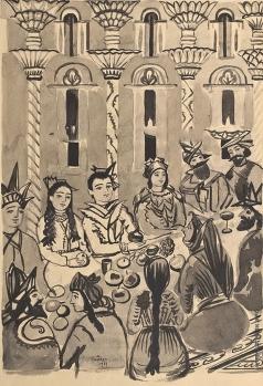 Сарьян М. С. Иллюстрация к армянской сказке «Красная корова»