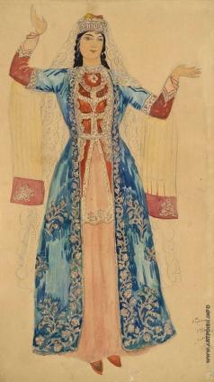 Сарьян М. С. Эскиз костюма Алмаст из оперы «Алмаст»