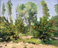 Сарьян М. С. Персиковые деревья, ивы и тополя