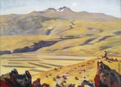 Сарьян М. С. Октябрский пейзаж
