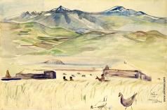 Сарьян М. С. Басаргечар у озера Севан