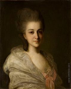 Рокотов Ф. С. Портрет неизвестной в белом платье с розовым бантом