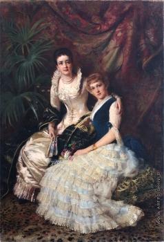 Маковский К. Е. Парный женский портрет