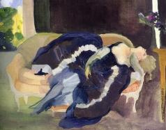 Сомов К. А. Спящая молодая женщина
