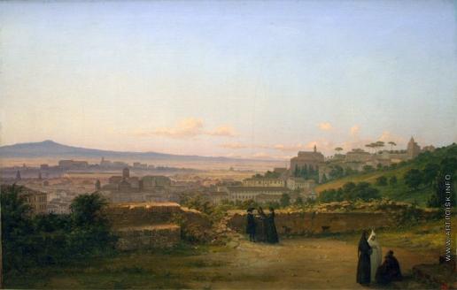 Раев В. Е. Вид от дуба Торквато Тассо на Транстевере в Риме