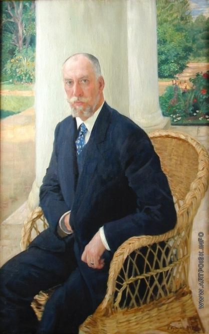 Кустодиев Б. М. Портрет барона Николая Карловича фон Мекк