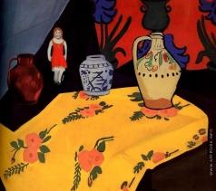 Школьник И. С. Натюрморт с желтой скатертью