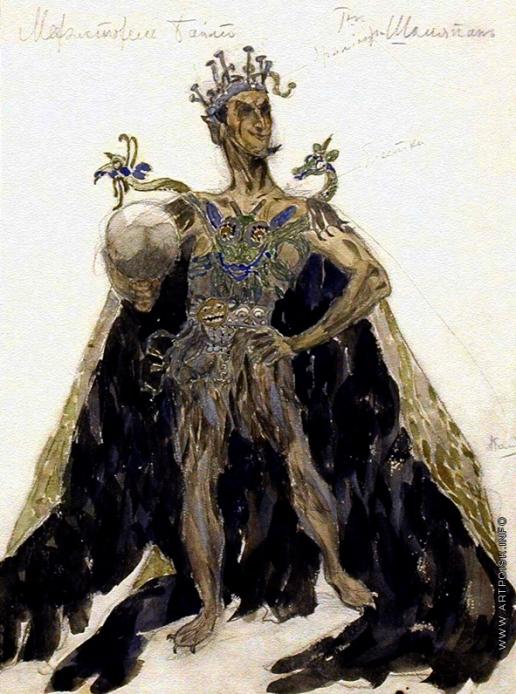 Головин А. Я. Эскиз костюма Мефистофеля к опере Ш. Гуно «Фауст»